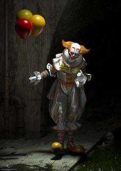 Freddy Krueger, Chucky, It Miniseries, Art It, Stephen King Novels, Art Alevel, Creepy Clown, Scary, Supernatural