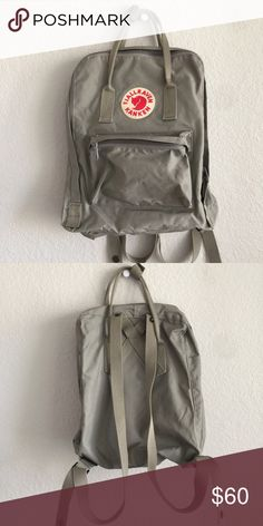 FJALLRAVEN KANKEN DAYPACK like new!                                                                   highly sought after backpack.                                    color is gray.                                                                  this is the normal sized FJALLRAVEN KANKEN. Fjallraven Bags Backpacks