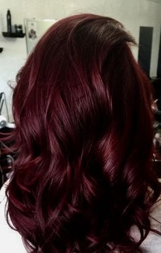 Pin by Bao Xiong on Hair/MakeUp in 2019 - Fall Hair Colors Pelo Color Vino, Wine Hair, Pinterest Hair, Hair Color And Cut, Deep Red Hair Color, Wine Red Hair Color, Cherry Cola Hair Color, Cherry Hair Colors, Fall Hair