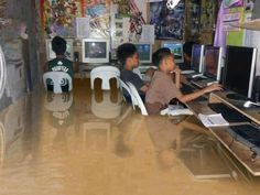 Global Warming and some flooding don't bother true gamers.