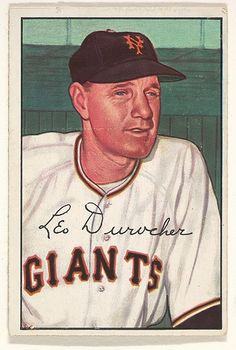 1952 Bowman 146 Leo Durocher New York Giants Baseball Card