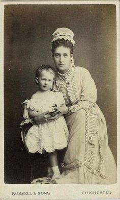 Alexandra with Maud ( future Queen of Norway)