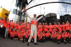 Jenson Button celebrates victory with his team | Formula 1 photos | ESPN F1
