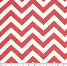 Coral and White Zig Zag Curtains with by DesignerPillowShop, $129.50