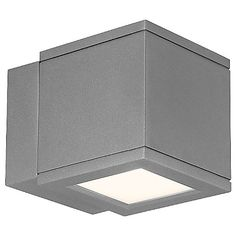 "Light, cubed. The WAC Lighting Rubix Outdoor LED Wall Sconce is a 5"" block of die-cast aluminum that provides a powerfully perfect stream of downlight, imminently suitable to both residential and commercial applications. A clean, clutter-free design stays architecturally contemporary, while the durable powder-coat finish and heavy-duty construction ensure the fixture will stay useful and beautiful in any weather."