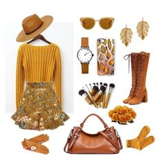 """Yellow& Brown-  Vintage Hobo"" by katteeus ❤ liked on Polyvore featuring Prada, Marika, Zimmermann, Draper James, Gizelle Renee, Casetify and vintage"