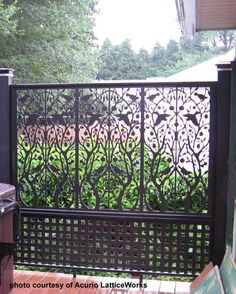 Whether you are looking for black vinyl lattice panels or any other color, we bet you will be surprised at all the custom designs you can find. I know we were! Our friends at Acurio Latticeworks, located in Washington, Georgia, specialize in custom vinyl lattice for both exterior and interior use. We appreciate them allowing us to show you the many ways their vinyl panels have been used. Visit our site to see many more options that will get your creative wheels spinning! #PorchPrid…
