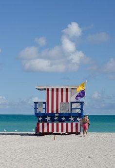 Miami beach lifeguard tower by dena