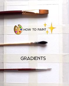 By How to paint gradients: watch the video to see six types o. - By How to paint gradients: watch the video to see six types of basic gradients y - Watercolor Techniques, Painting Techniques, Painting & Drawing, Art Painting Tools, Gouache Painting, Drawing Tips, Easy Drawings, Watercolor Paintings, How To Watercolor