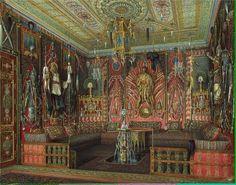 """Turkish Room in the Catherine Palace in Tsarskoye Selo""by Edward Petrovich Gau (1807-1887)"