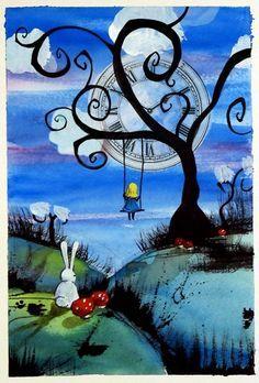 The swing swings. #AliceInWonderland #Trippy #Psychedelic #Art #Wonder #Beauty #Lost #Mushrooms #Love #FairyTale