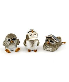 Loving this Cute Little Owl Figurine Set on #zulily! #zulilyfinds
