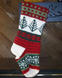 Personalized hand knit fair isle Christmas by StarryHomeCrafts