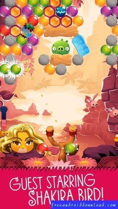 Angry_Birds_POP_Shakira_Bird_v2.0.4_MOD_APK Diamond Movie, Fire And Stone, Angry Birds, Shakira, Bowser, Pop, Cool Stuff, Facebook, Games