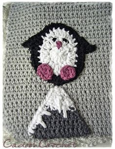 gehäkeltes Pinguin-Eisberg-Lätzchen *** crocheted Iceberg-Penguin-Bib