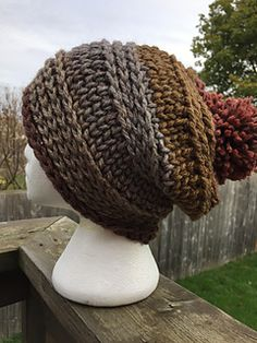 Crochet Slouch Ginger Spice Hat and Cowl - free super chunky crochet pattern at Rich Textures Crochet. - Free crochet ginger and spice slouch hat and cowl set. An easy crochet pattern design. Can be done in Caron Tea Cake. Pefect for cold winter days. Crochet Beanie Hat Free Pattern, Chunky Crochet Hat, Crochet Adult Hat, Bonnet Crochet, Crochet Slouchy Hat, Mode Crochet, Crochet Diy, Crochet Woman, Knitted Hats