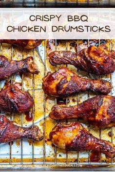 Crispy Drumsticks Recipe, Drumsticks On The Grill, Grilled Chicken Drumsticks, Bbq Chicken Marinade, Oven Baked Bbq Chicken, Chicken Leg Recipes, Sides For Bbq Chicken, Baked Chicken Legs, Perfect Chicken