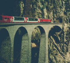 This photo was taken from the same train you see in the photo! #Glacier_Express from #Zermatt to #St_Moritz.  from #treyratcliff at http://www.StuckInCustoms.com - all images Creative Commons Noncommercial