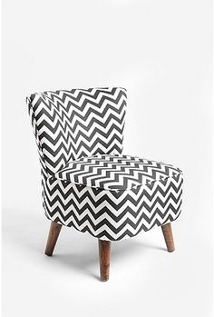 great black and white arm chair