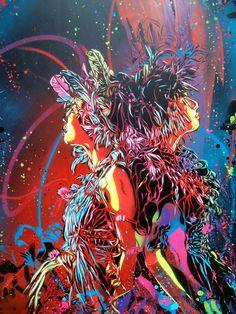 Stencil Works by Street Artist C215