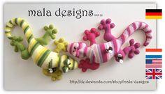 Häkelanleitungen - Riesensalamander, pdf Häkelanleitung - ein Designerstück von Mala-Designs bei DaWanda