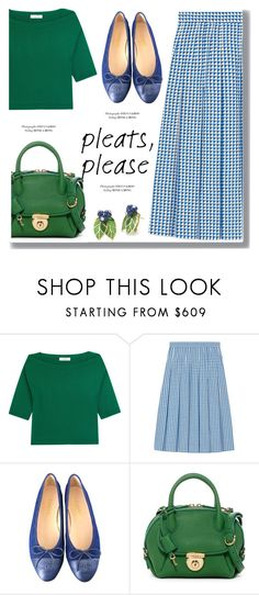 """""""Blue and Green"""" by drigomes ❤ liked on Polyvore featuring Valentino, Gucci, Chanel and Salvatore Ferragamo"""