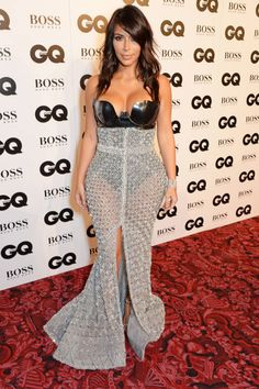 Kim Kardashian is the only woman who can pull this off. So fierce.