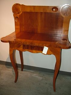 Antique Swedish Card Table Sweden, 1750. A Period Rococo Elm Wood Card Table  With