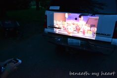 Projecting with Projector onto the bed of a pickup truck Movie Projector Outdoor, Mobile Projector, Blog Images, Family Night, Pickup Trucks, Giveaway, Bed, Stream Bed, Bedding