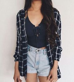 10 Lazy Girl Outfits That Look Polished AF - Source by rikkisilbert flannel outfits Plaid Fashion, Look Fashion, Teen Fashion, Fashion Outfits, Fashion Ideas, Fashion Clothes, Fashion Trends, Fashion Women, Fashion Check