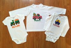 Holiday Shirt Trio / Onesies or Toddler Shirts by SendingItInStyle, $45.00