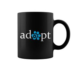 Adopt pet cat dog coffee mug with pink paw print. Printed on BOTH sides for left or right handed use. Dog Coffee, Coffee Mugs, Funny Coffee, New Shirt Design, Shirt Designs, Coffee Is Life, Coffee Time, Be Your Own Kind Of Beautiful, Cool Mugs