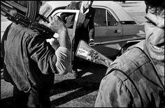 RUSSIA. 1994. Chechnya. Anti-Djokhar DUDAIJEV (the late president) opposition checkpoint.
