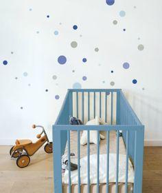 10 Habitaciones infantiles con lunares