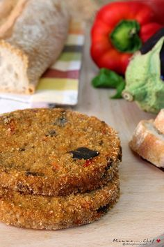 Eggplant burgers are vegetable meatballs without eggs and animal protein. Veg Recipes, Light Recipes, Vegan Main Dishes, Vegetarian Cooking, Italian Cooking, Tasty, Yummy Food, Vegan Burgers, Healthy Breakfast Recipes