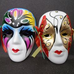 Hermosas Mascaras Decorativas Un Set De 6 Mascaras Medianas ...