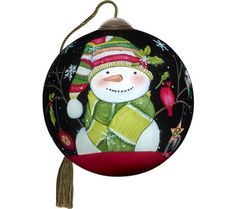 """2.50"""" Decked Out for Christmas Snowman Ornamentby Ne'Qwa"""