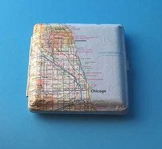 Map Wallet Frame Cigarette Holder Business Card by HocusFocus, $25.00