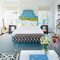 love the bed and polka dots!