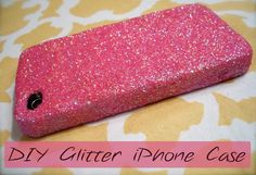 Want to make your iPhone case creative so check out this DIY project.  Just take an old (plain) iPhone case and choose the finest glitter you can find for the best result.Mix some cheap school glue and water and paint the mixture on your case.Then sprinkle your glitter all over the case and cover it nicely.For better results, apply two coats of glue mixture and glitter all over the case.To prevent the inevitable glitter infestation, coat the whole case with clear nail polish.   Enjoy this…