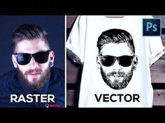 How to Convert Raster Image into Vector in Photoshop – YouTu… – Graphic Design Ideas Photoshop Design, Photoshop Tutorial, Dicas Do Photoshop, Photoshop Youtube, How To Use Photoshop, Photoshop Brushes, Photoshop Actions, Photoshop Website, Advanced Photoshop