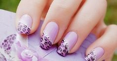 Jazz up your plain purple nails with this Leopard Print nails tutorial by Tartofraises/Cute Nails! You could do this with any color or colors for a hot summer nail design. Cheetah Nail Designs, Leopard Print Nails, Nail Art Designs, Pink Leopard, Nails Design, Fingernail Designs, Leopard Prints, Leopard Spots, Animal Prints