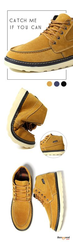 US$33.79+Free shipping. Men Boots, High Top Outdoor Suede Boots, Comfortable, Casual. Color: Black, Yellow, Blue. Shop now~