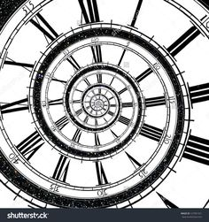 Find Clock Face Stretches Spiral Into Infinity stock images in HD and millions of other royalty-free stock photos, illustrations and vectors in the Shutterstock collection. Clock Tattoo Design, Clock Tattoos, Egypt Tattoo, Photo Clock, Old Pocket Watches, Dark Art Illustrations, Tattoo Background, Black And White Sketches, Sky Full