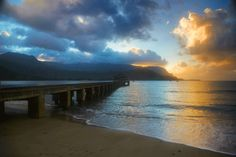 The Pier at Hanalei Bay on Kaua'i, Hawai'i