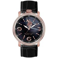 Black Gold, Black Leather, Crystal Rose, Omega Watch, Bb, Polo, Rose Gold, Jewels, Watches
