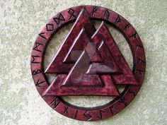 The original meaning and function of the valknut is not wholly clear. The number three is a very common magic symbol in many cultures. However, in Scandinavian context three multiplied by three mig. Magic Symbols, Viking Symbols, Viking Art, Celtic Tattoos, Viking Tattoos, Odin Symbol, Viking Culture, Vegvisir, Norse Vikings