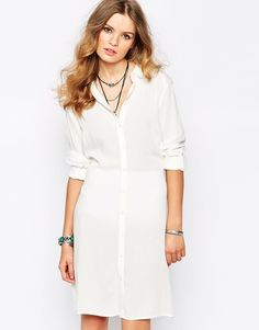 185b4bf8314c First   I Tie Waist Shirt Dress at asos.com