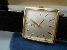 Tissot Gold Filled Square 1960s Men's Watch with Tissot Case #tissot #Dress