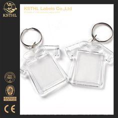 2017 trending keychain products custom clear acrylic photo keychain